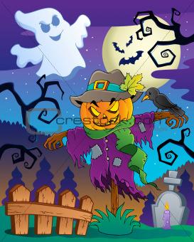 Halloween scarecrow theme image 2