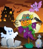 Halloween scarecrow theme image 3