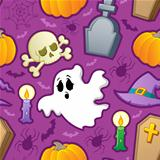 Halloween seamless background 3