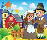 Thanksgiving pilgrim theme 2