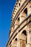 Colosseum with blue sky