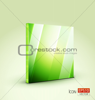 Green plate icon or background
