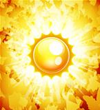 Sunshine vector abstract background