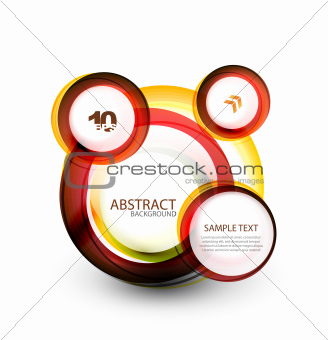 Abstract web bubble banner