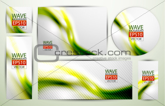 Green wave banners