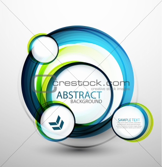 Blue bubble abstract banner