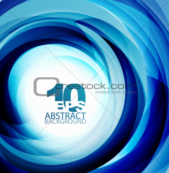 Blue swirl abstract background