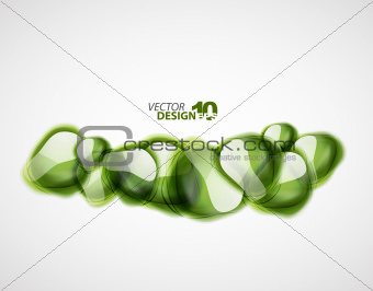 Abstract glass shapes background