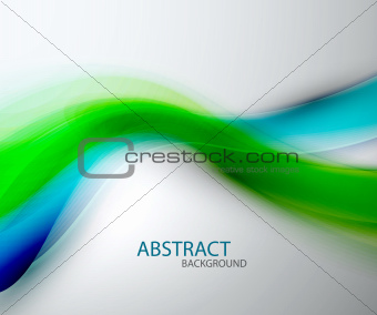 Blurred abstract blue green wave background