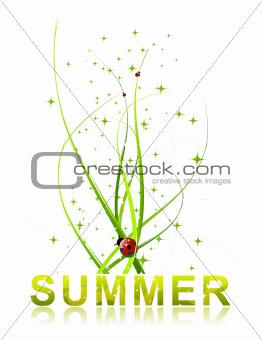 Green summer concept