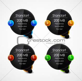 Black speech bubble web boxes