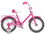 kids bicycle for a girl vector illustration