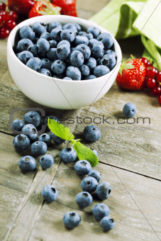 fresh bilberries