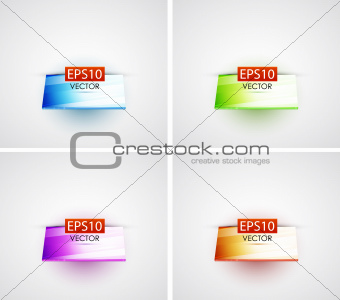 Glossy 3d vector shelf backgrounds