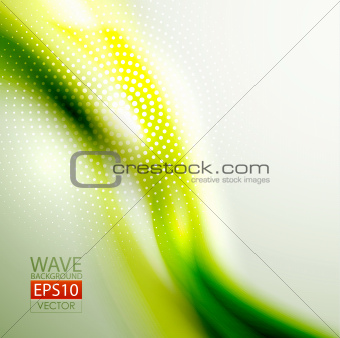 Green eco blurred wave background