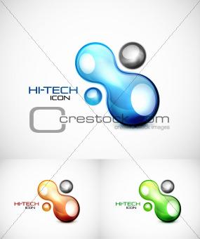 Liquid abstract icon