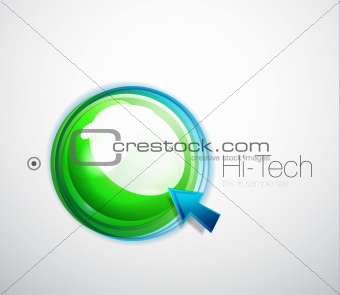 Abstract blue glossy aqua button background