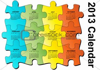 2013 puzzle calendar