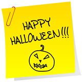 Sheet of paper with Happy Halloween message