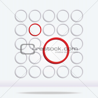 Abstract geometrical circle background
