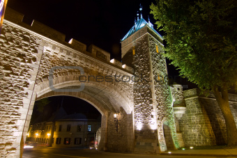 Time expoure of quebec city gate