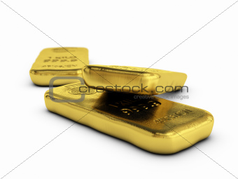 physical gold bullions ingots, golden bars