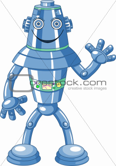 Cute cartoon robot