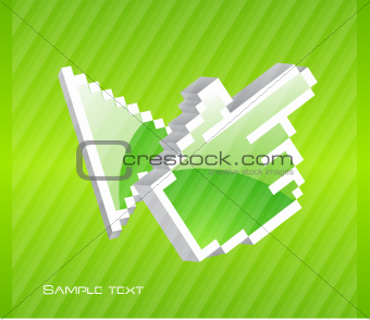 Abstract arrow technology background
