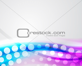 Abstract techno wave background