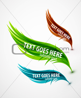 Abstract wave text line