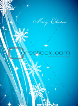 Blue Christmas lines vector background