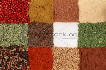 Colorful Spices forming a background