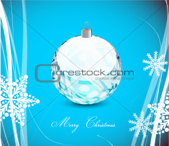 Blue Christmas wavy lines background