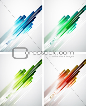 Set of color line background