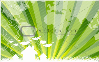 Green eco map background