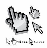Vector metal hand pointer