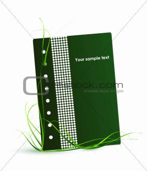 Green nature notebook