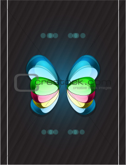 Abstract colorful glass shapes