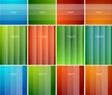 Color striped banner design
