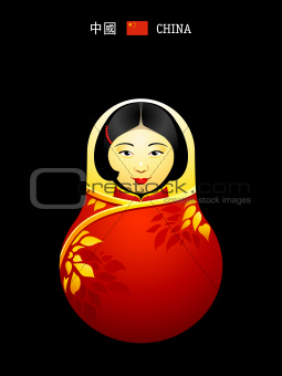 Matryoshka china girl