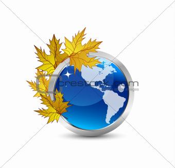 Autumn Earth concept