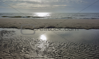 Beach at the North Sea in Denmark