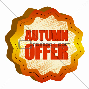 autumn offer starlike label