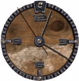 Metallic and Wooden Grunge Clock