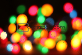 abstract color christmas lights