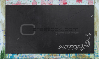 Blackboard with Colorful Frame