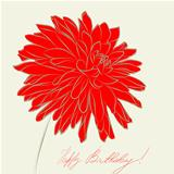 Stylized Dahlia flower illustration
