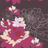 Seamless background with chrysanthemum flowers