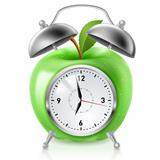 Green apple alarm clock