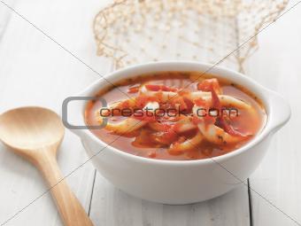 calamari seafood soup